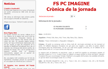 FS PC Imagine Casserres - Crónica